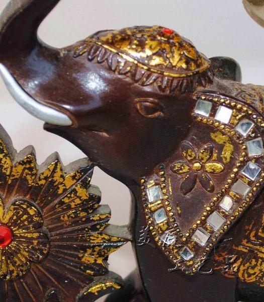 東南亞大象燭台擺件