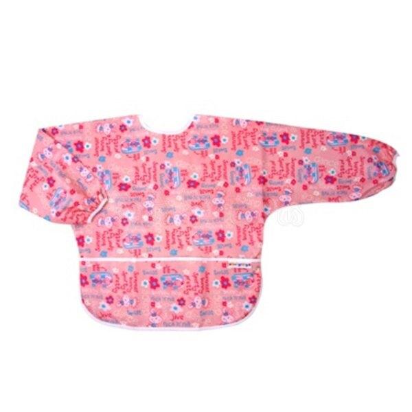 Baby City防水長袖畫畫衣3-5歲/粉色兔子【六甲媽咪】
