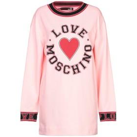 《セール開催中》LOVE MOSCHINO レディース スウェットシャツ ピンク 38 コットン 100%