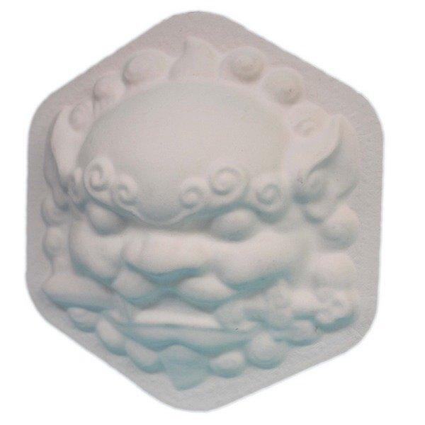 六角獅頭 彩繪獅頭面具 MIT製/一件500個入(定40) 空白獅頭面具 劍獅 風獅爺 DIY手繪面具-精