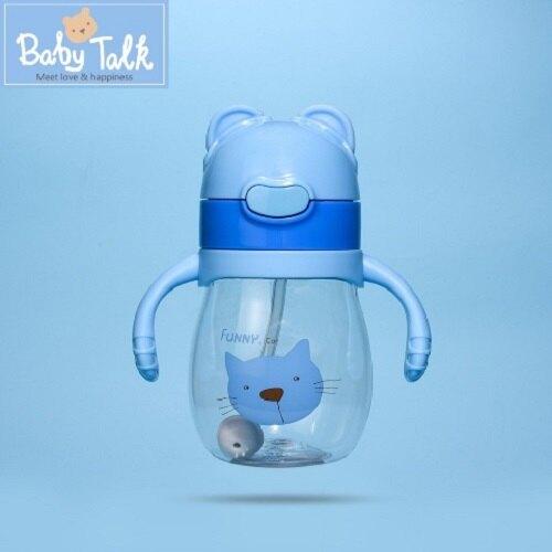 【BabyTalk】熊熊兩用水杯(歡樂貓咪)
