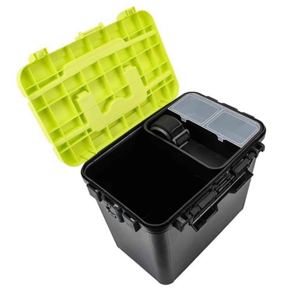 釣之屋釣魚儲物箱磯釣箱釣箱加厚塑料車載手提肩背箱釣魚桶收納箱  尾牙年會禮物