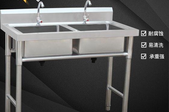 水槽商用不銹鋼單水槽水池三雙槽雙池洗菜盆洗碗池消毒池食堂廚房客制