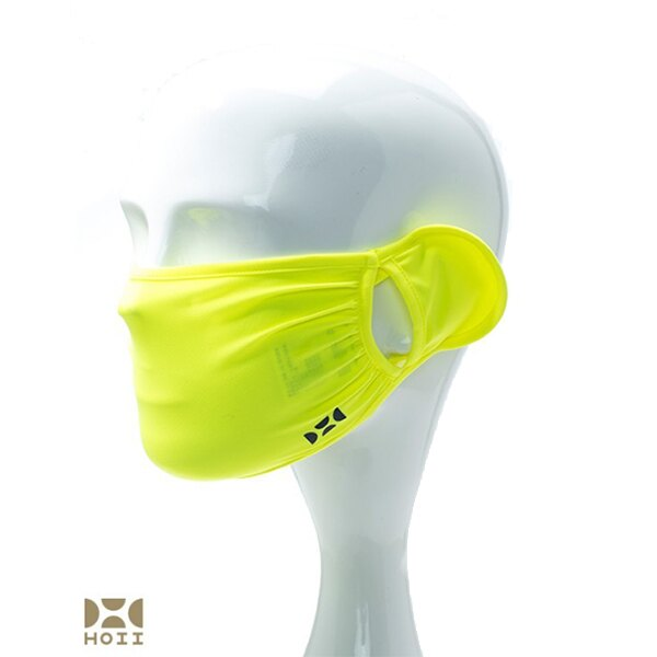 HOII后益先進光學美療布-兒童素面雙耳美膚口罩(黃/紅/藍)