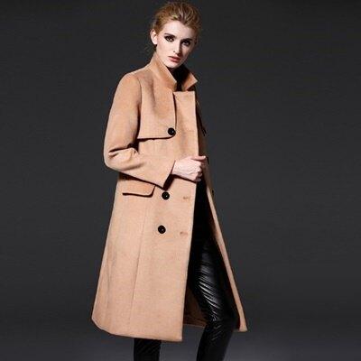 風衣外套毛呢大衣-長版歐美英倫風修身雙排釦女裝73ir36【獨家進口】【米蘭精品】
