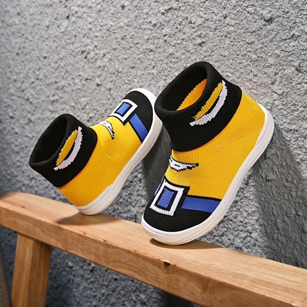 嬰兒鞋 寶寶鞋子男1-3歲幼兒園室內鞋兒童二棉鞋加絨保暖襪子鞋 歐歐流行館