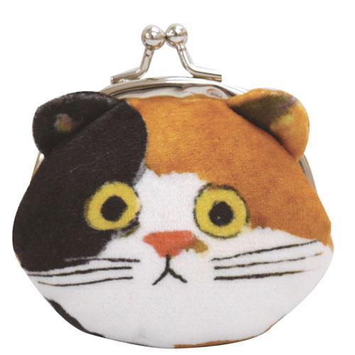 【Ecoute! minette】日本超人氣 大頭貓系列零錢包 (麥克貓) 日本直送