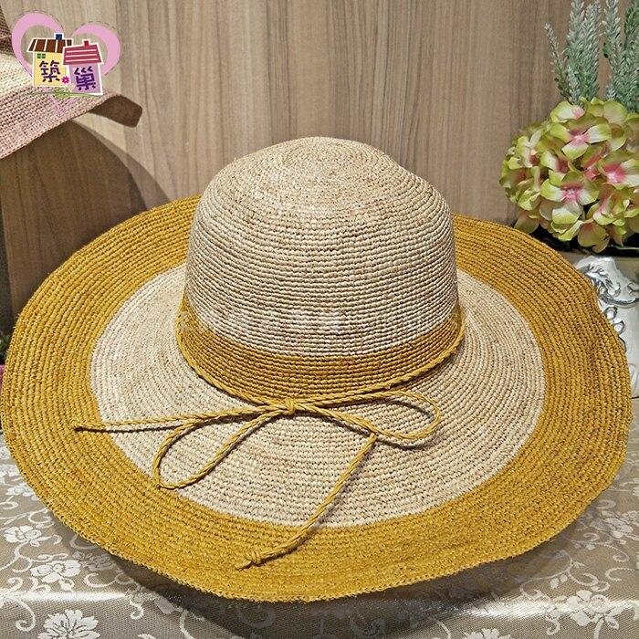 外銷高品質印染編織拉菲草紙女草帽 夏季抗UV紫外線 防曬涼感遮陽旅行海灘外出可折疊夏天帽子 【築巢傢飾】