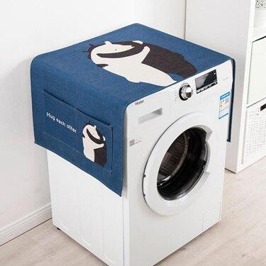 洗衣機防塵罩 單開門冰箱罩全自動滾筒洗衣機床頭柜蓋布多用蓋巾布藝防塵罩 領券下定更優惠