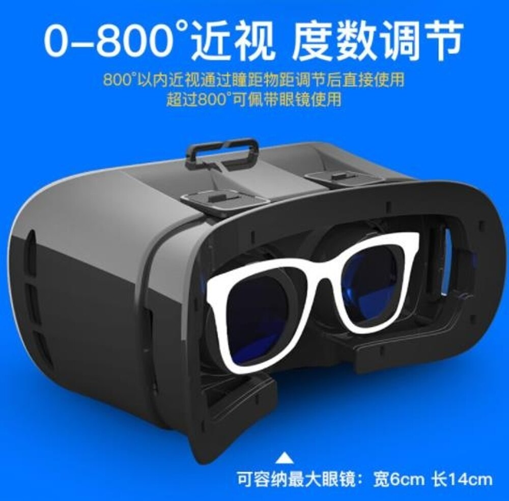 VR眼鏡ugp頭盔VR眼鏡虛擬現實3d立體眼睛rv手機游戲機box專用4d一體機ar家庭智能DF 全館免運 維多