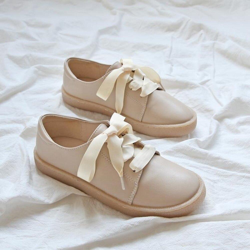 牛津鞋 復古英倫小皮鞋女學院風學生平底圓頭女森系文藝晚晚鞋 免運