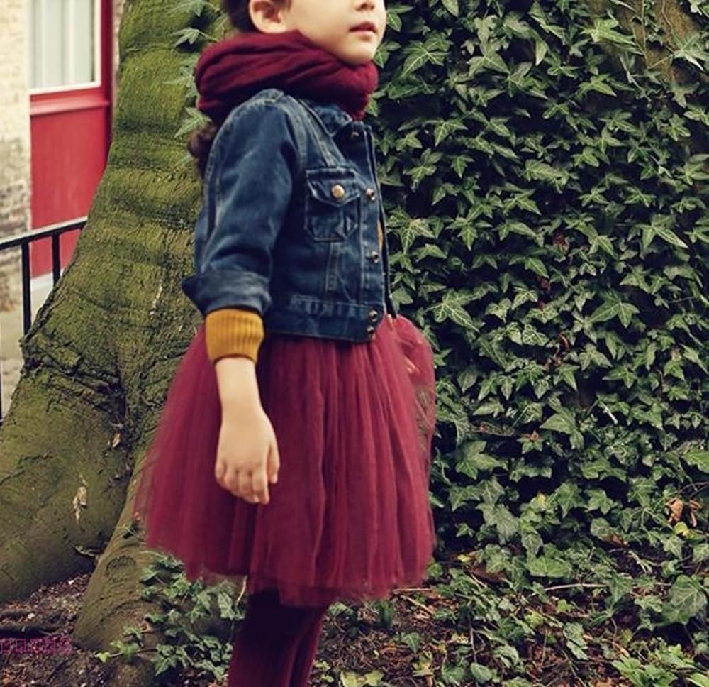 ✤宜家✤可愛時尚秋冬新款唯美寶寶公主紗裙 兒童過年服裝 過膝公主裙