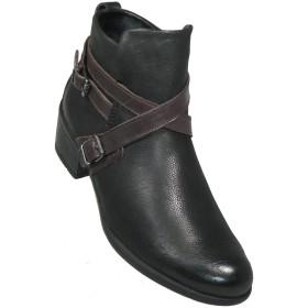 Bussola レディース 'Amina' クリスクロス アンクルブーツ US サイズ: 5.5 カラー: ブラック