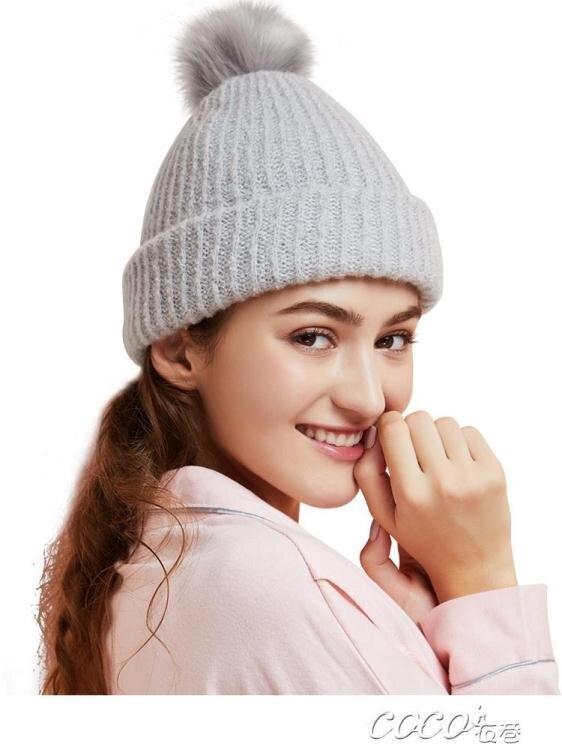 孕婦帽 樂孕坐月子帽秋冬保暖防風針織帽月子頭巾孕婦帽產後時尚用品