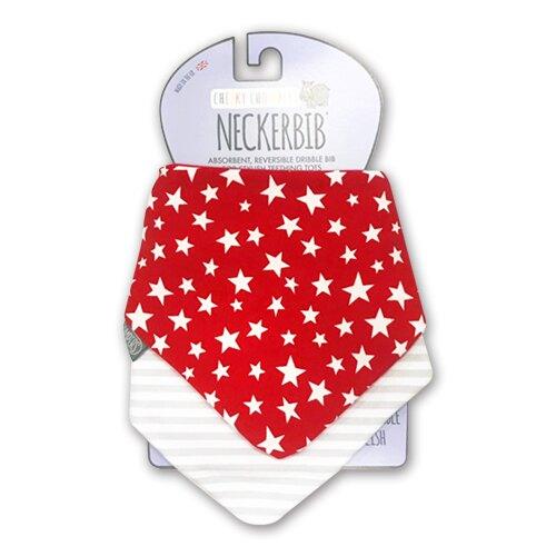 Cheeky Chompers-Neckerbib 領巾/圍兜-阿兜仔三層棉吸水圍兜兜兩件組(紅星+灰條紋)★愛兒麗婦幼用品★