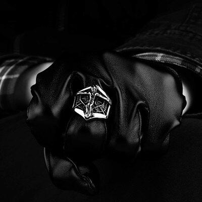 鈦鋼戒指耶穌美式戒飾-歐美經典不敗個性生日情人節禮物男飾品73le91【獨家進口】【米蘭精品】