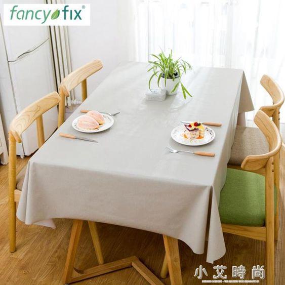 桌布布藝棉麻小清新韓式可愛網紅ins風北歐茶幾墊桌墊防水防燙厚.