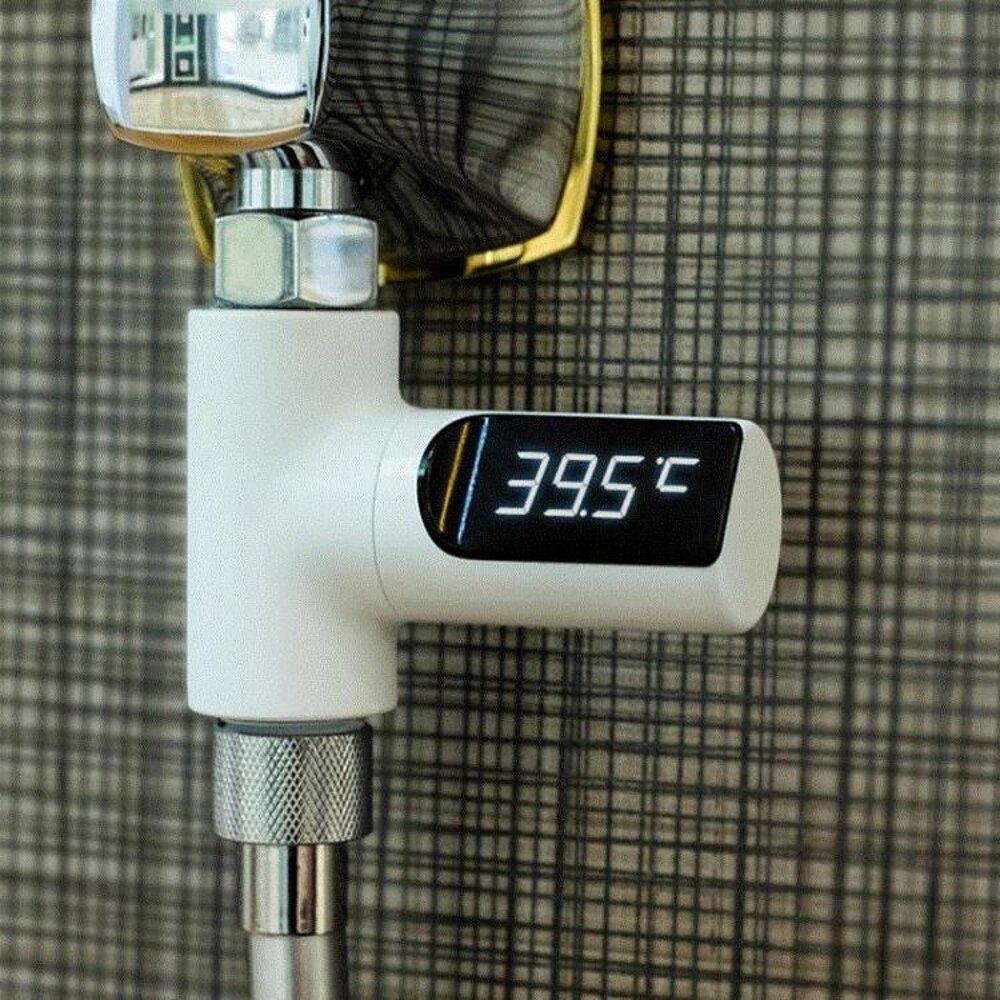 知暖創意無耗電帶LED水溫計可視花灑 溫計兒童控溫洗澡淋浴溫度 全館免運