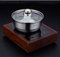 茶洗304不銹鋼鍋茶洗鍋大號洗茶杯鍋功夫茶具配件電磁爐不銹鋼消毒鍋