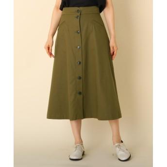 Couture Brooch(クチュールブローチ) 【WEB限定プライス/WEB限定サイズ(LL)あり/手洗い可】フロントボタン ミモレスカート