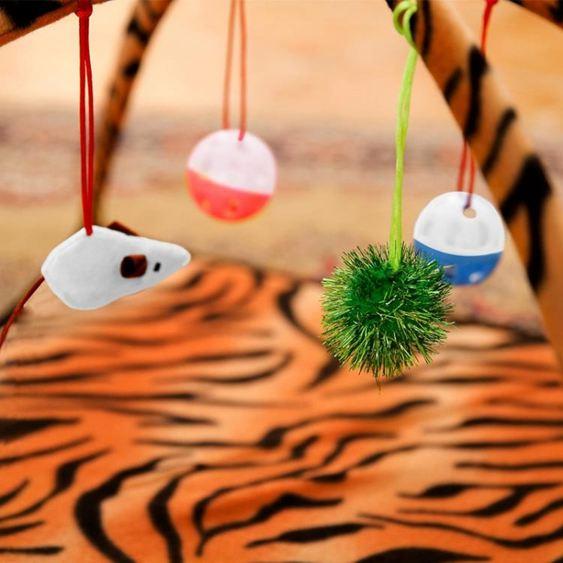 貓玩具老虎紋貓咪吊床貓爬架貓抓板貓咪玩具用品多省林之舍家居