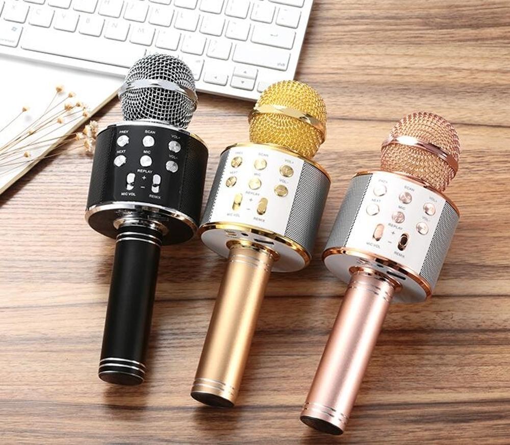 路博加 手機唱歌全民k歌神器通用話筒家用音響一體無線藍芽麥克風 尾牙年會禮物