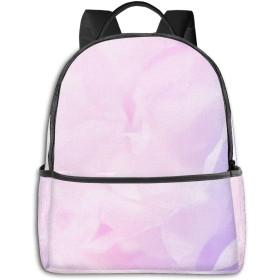 のファッションミニトラベルバックパック、十代の少年少女の女性の男性のためのかわいい学校ショルダースクールバッグ-美しい花