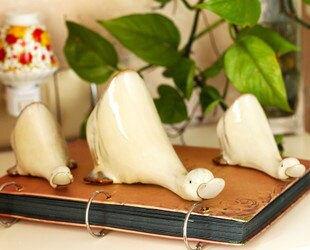 桌面擺設套三鴨工藝品