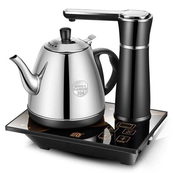 自動上水壺電熱燒水壺家用泡茶具器抽水式茶爐不銹鋼抽水壺220V  聖誕節禮物