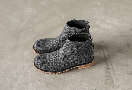 FINDSENSE MD 日系 高品質 時尚 潮 男 細格子 高幫 低跟休閒鞋 版鞋
