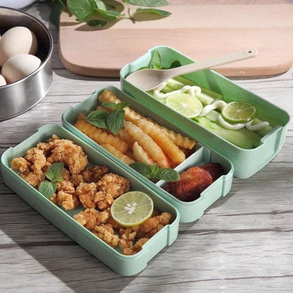 便當盒日式三層帶蓋飯盒可微波爐加熱餐盒學生多層分格兒童水果盒 嬡孕哺 聖誕節禮物