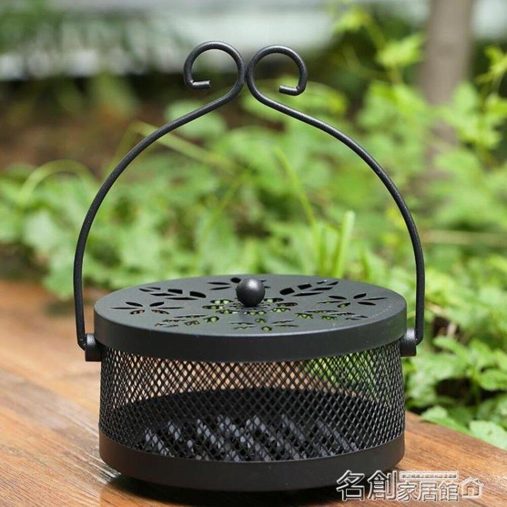 香爐 創意架盤托盒帶蓋防火家用室內爐托盤香爐 名創家居