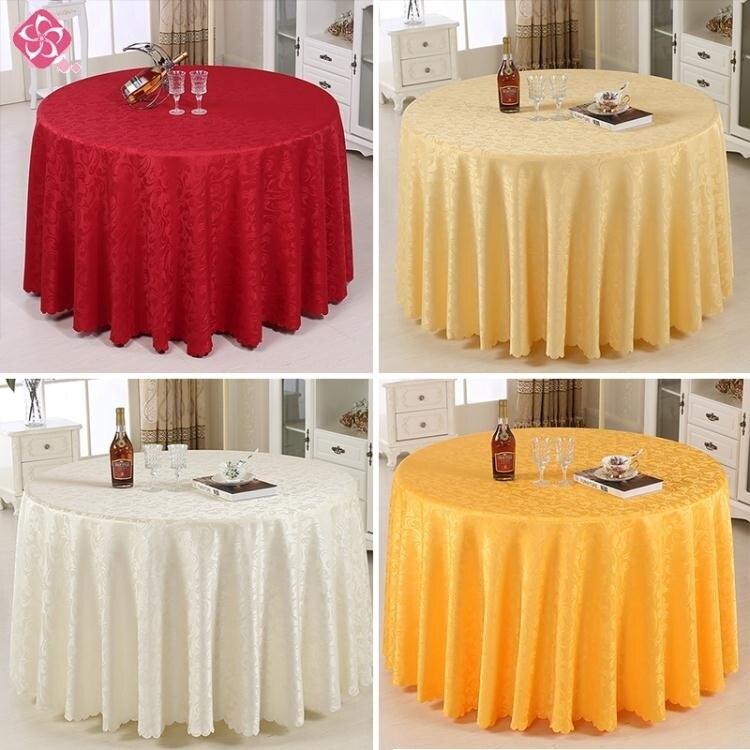 酒店桌布圓桌臺布長方形圓形家用餐桌布紅色婚慶會議餐廳布藝桌布 清涼一夏特價