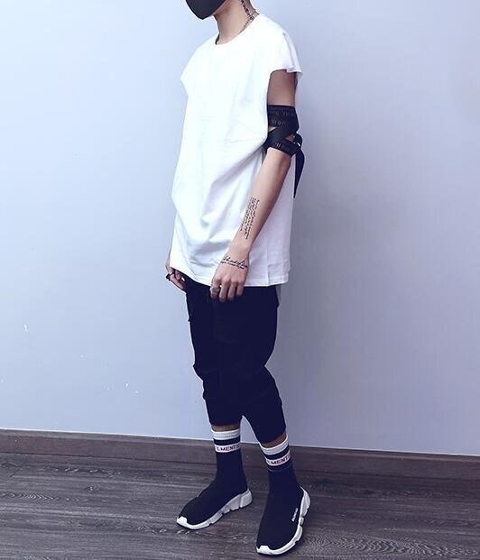 FINDSENSE MD 韓國 潮 男 時尚 街頭hithop 寬鬆 純色 素面 落肩 背心 素面背心 素面T恤