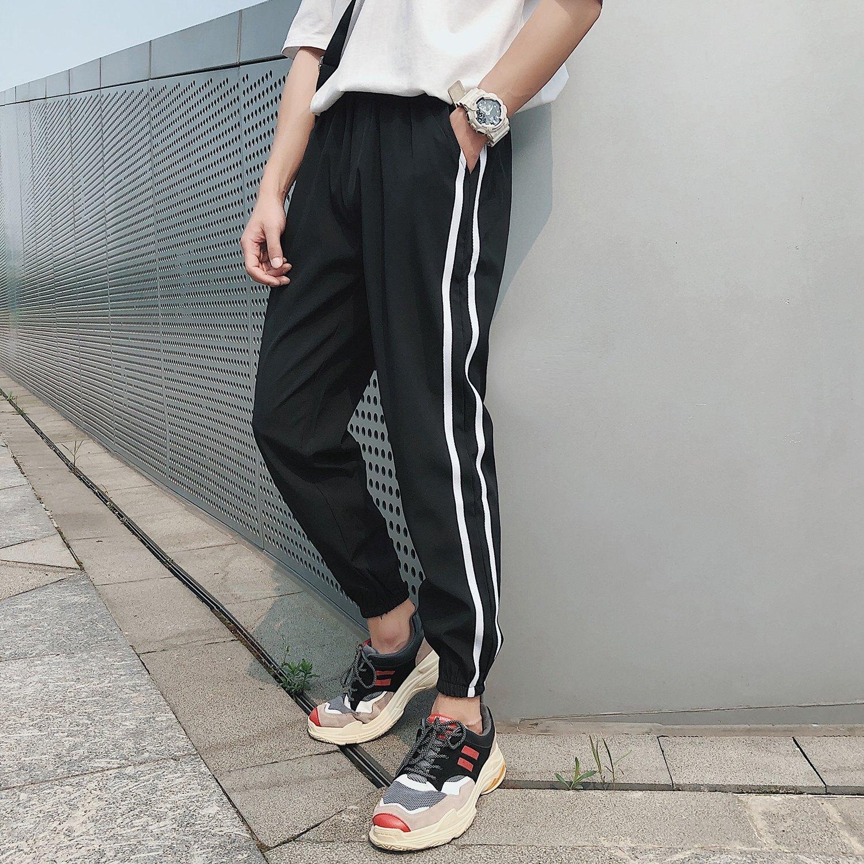 FINDSENSE H1 2018 夏季 新款 男 個性 動小腳褲  舒適透氣 哈倫褲 大碼九分褲 潮流褲子