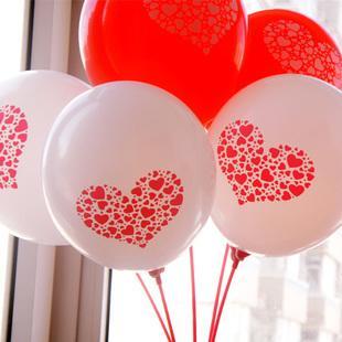 婚禮情人節三色愛心氣球15個價格