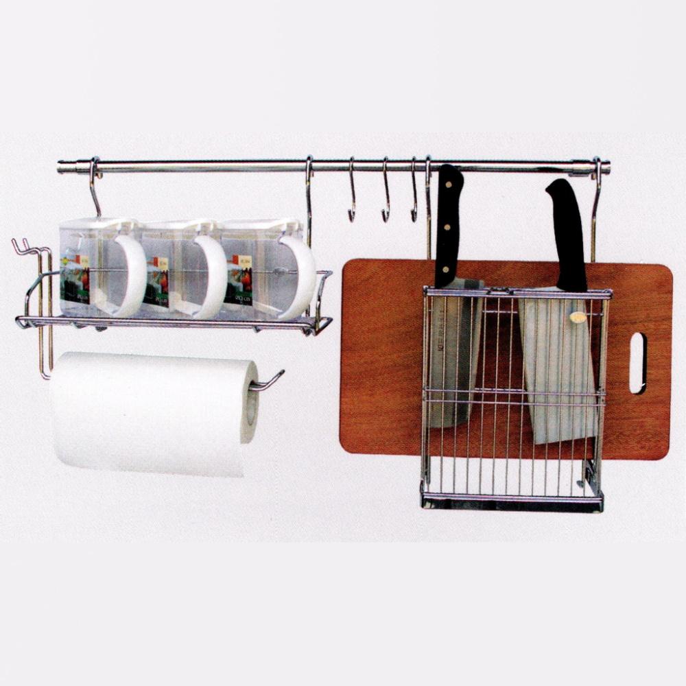 調味罐+不鏽鋼調味罐紙巾架(單個)+不鏽鋼刀具砧板架(單個)_3750