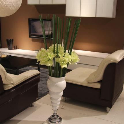 仿真花朱頂紅君子蘭假花絹花現代簡約家居裝飾客廳大型擺設花藝(一個價)(圖一)