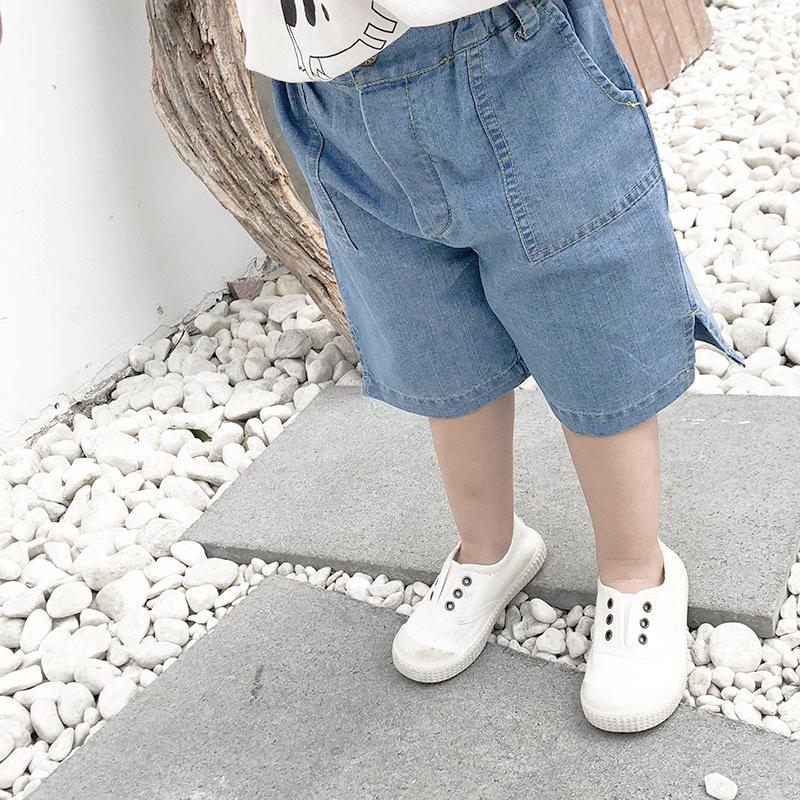 百搭開岔寬鬆牛仔褲 五分褲 中短褲 中褲 牛仔褲 中性款 橘魔法 現貨 童裝 男童【p0061192318345】
