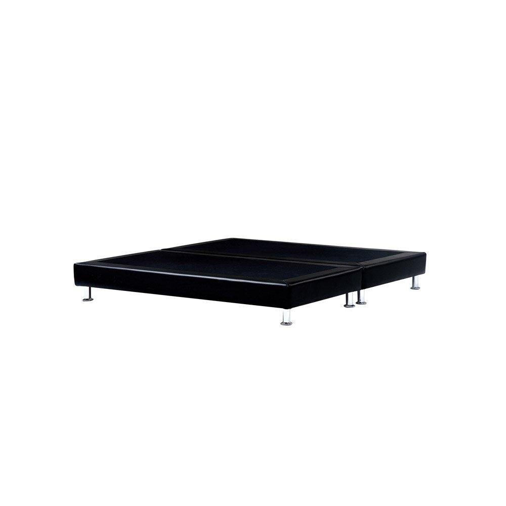 素面皮革5尺床底床架床組加大床台可訂做6X7【163B12106】Leader傢居館500B