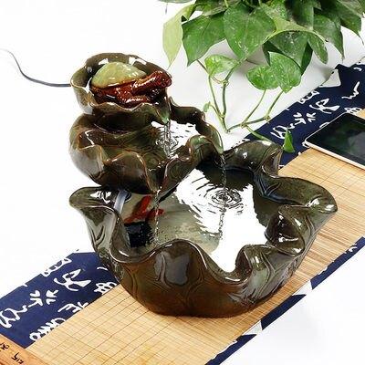 風水輪擺件陶瓷噴泉流水加濕器