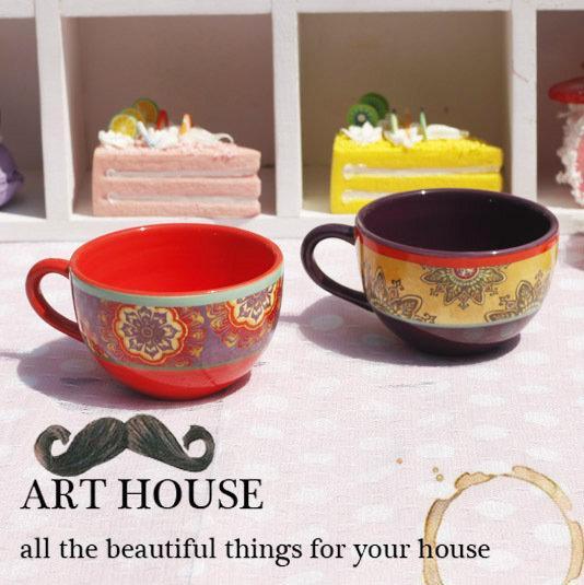 歐式花朵陶瓷英式下午茶杯 歐式咖啡杯 美式紅茶杯濃縮咖啡杯(一個價)(圖一)