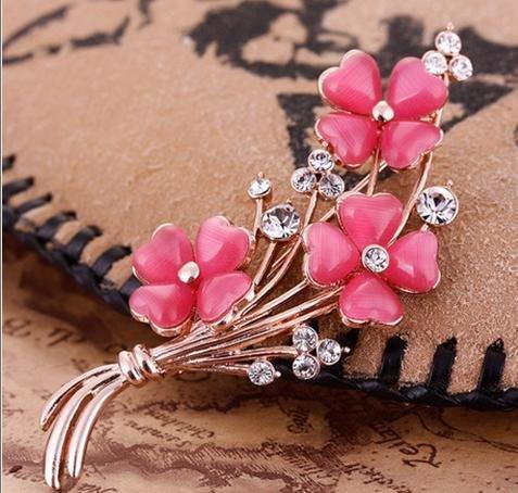 時尚複古花朵胸針 別針女胸花配飾 高檔飾品生日禮物