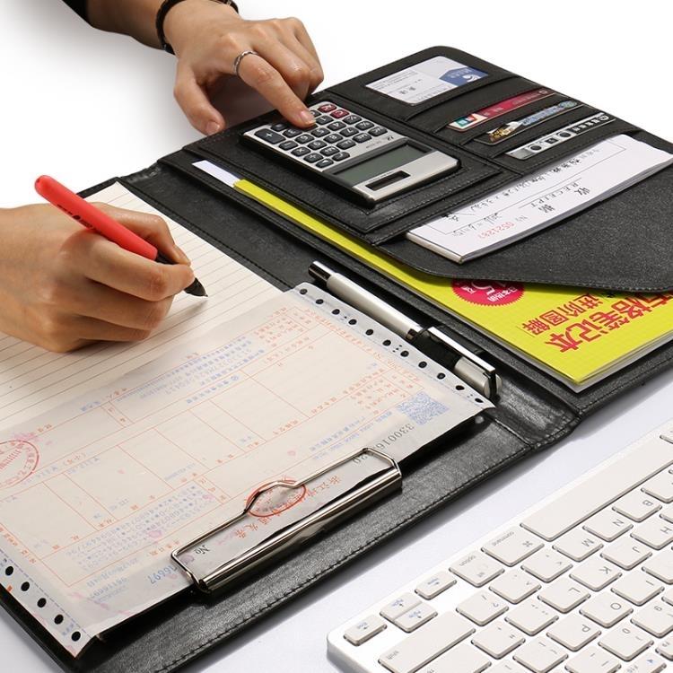 A4多功能文件夾資料夾銷售夾皮質經理夾談單本談單夾辦公   領券下定更優惠