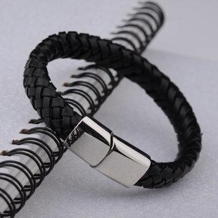 新品皮手鏈 男士手鏈時尚男手鐲個性鈦鋼飾品