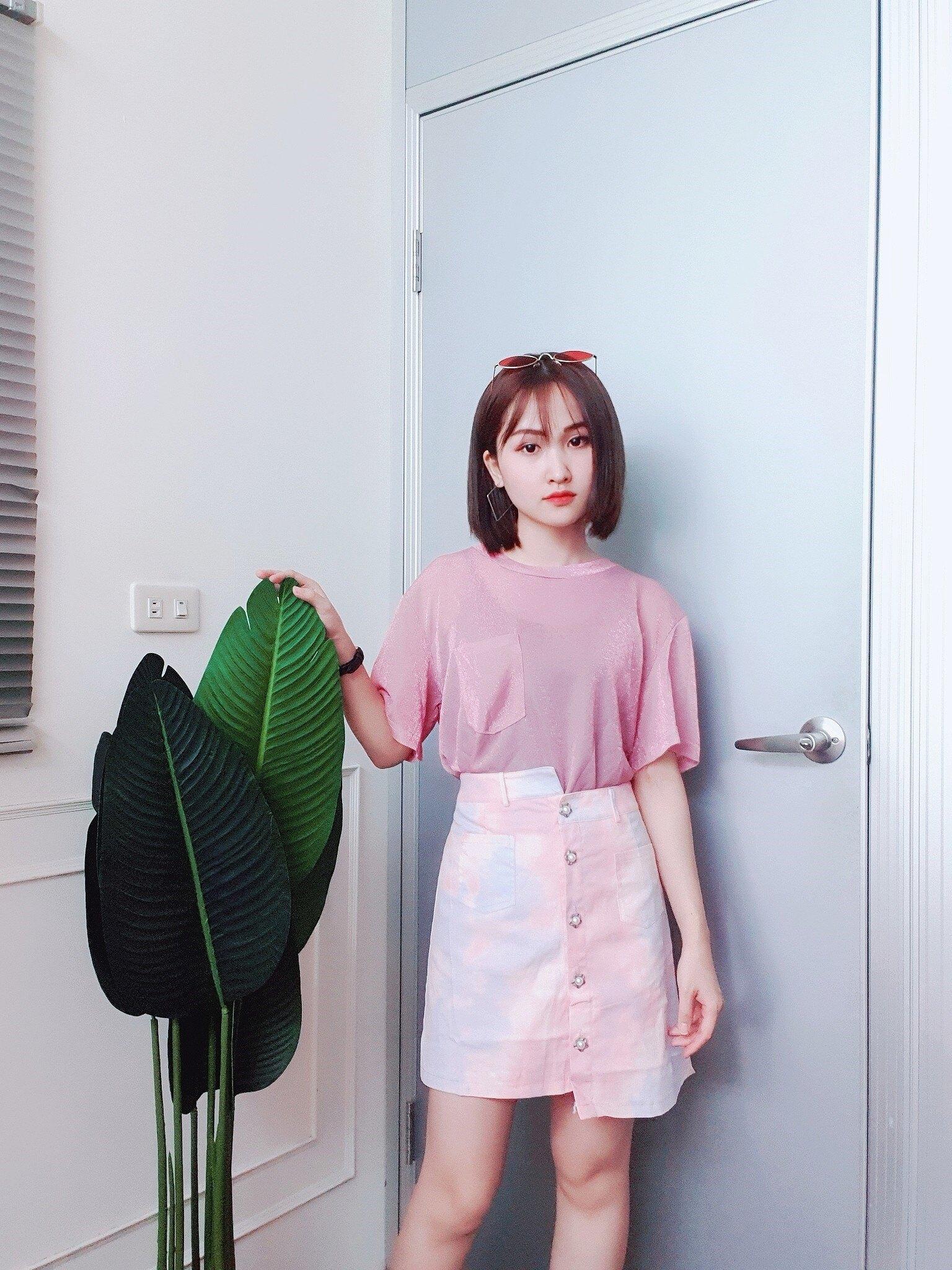 【領券折$30】星星排扣渲染短裙