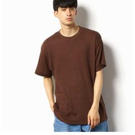 【Purple & Yellow:トップス】ワッフル ワイドシルエットTシャツ
