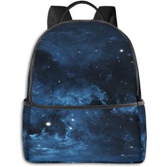 ファッションミニトラベルバックパック、ティーンボーイズガールズレディースメンズのためのかわいいスクールショルダースクールバッグ-スペース星雲
