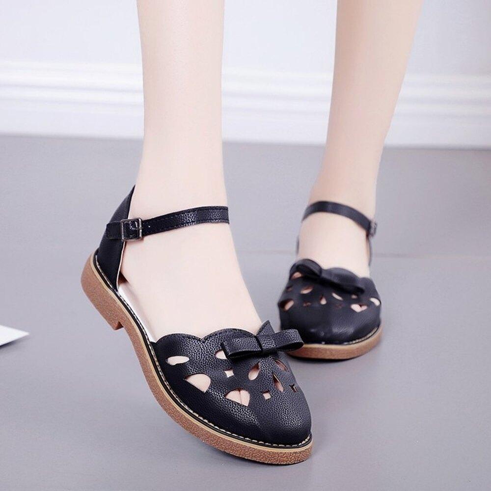 涼鞋女夏季新款英倫風日系森女單鞋洛麗塔lolita牛津底綁帶娃娃鞋 新春鉅惠
