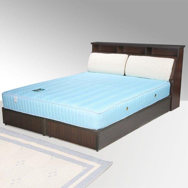 黛絲床組-雙人5尺(胡桃木紋)❘雙人床/床組/床台/床頭箱/房間組/臥室【YoStyle】